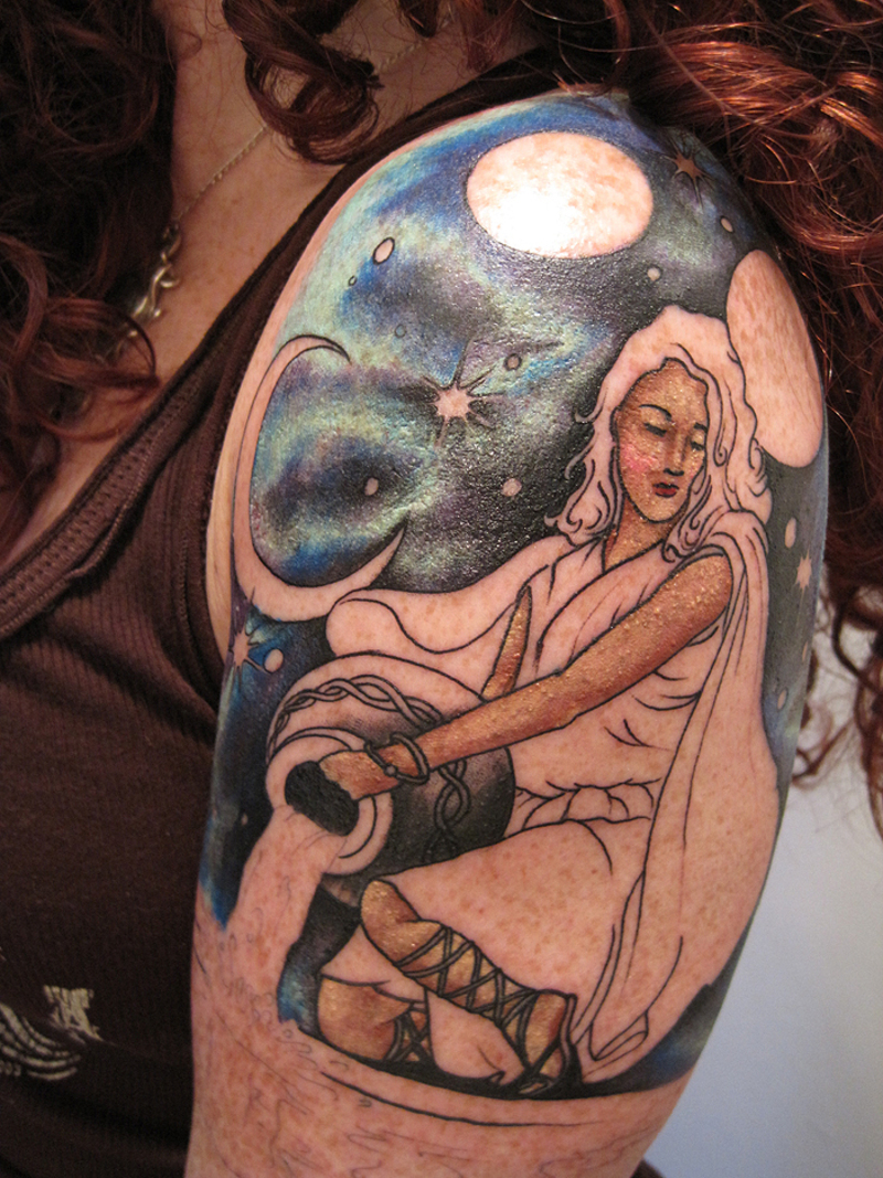 Tattoo Stencils For Women: Aquarius Tattoos Designs, Ideas And Meaning