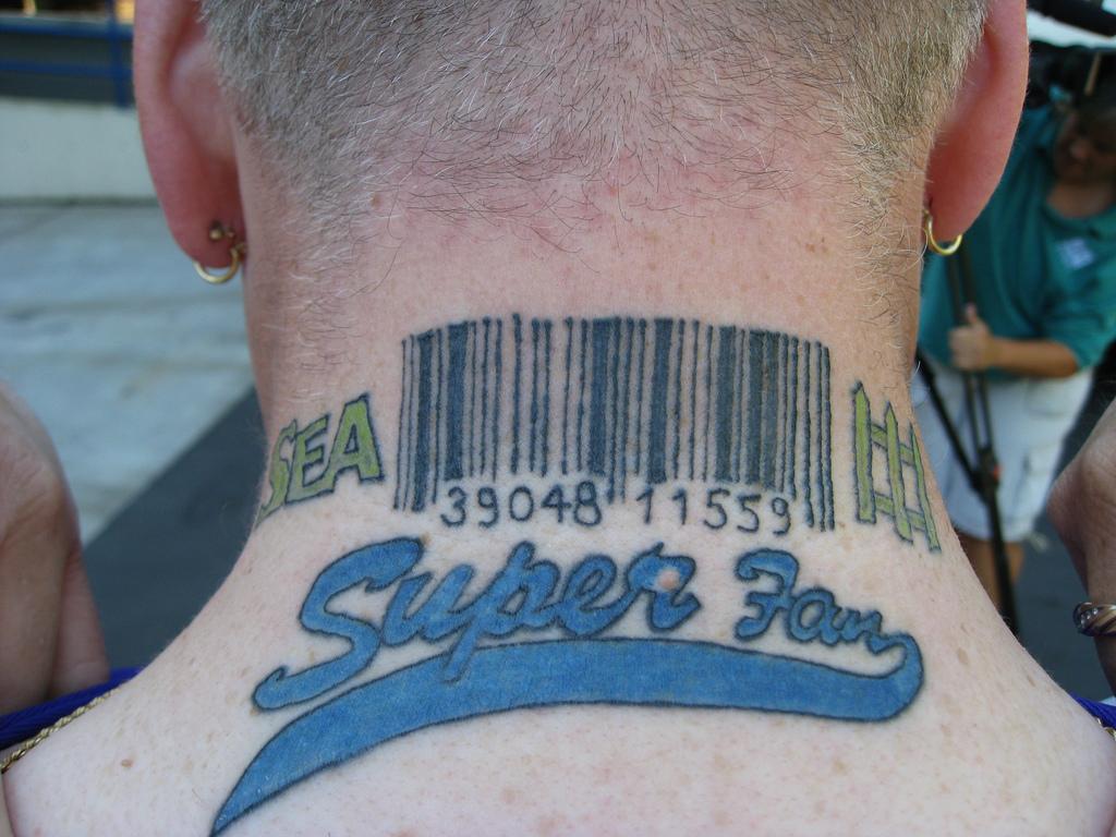 Barcode Tattoo Neck Barcode Tattoos Design...
