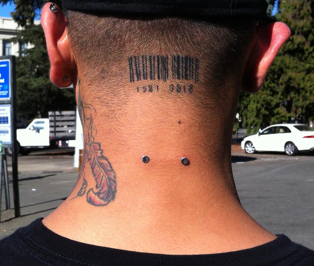 Barcode Tattoo Neck Barcode Tattoos...