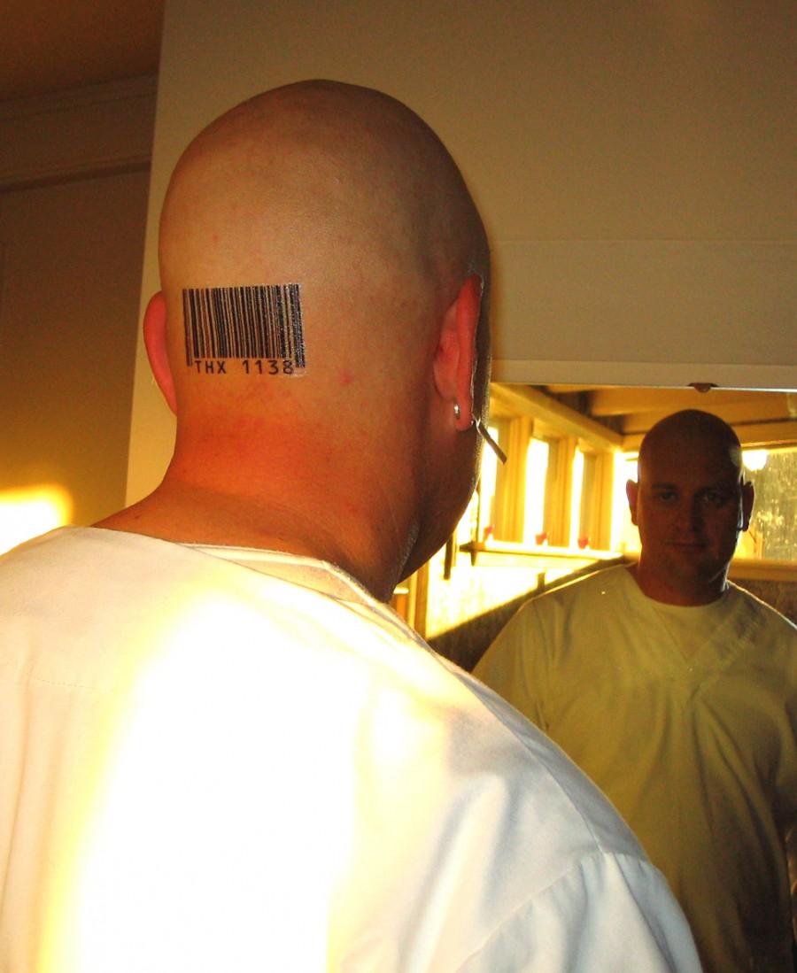 Barcode Tattoo Neck Barcode Temporary Tattoo
