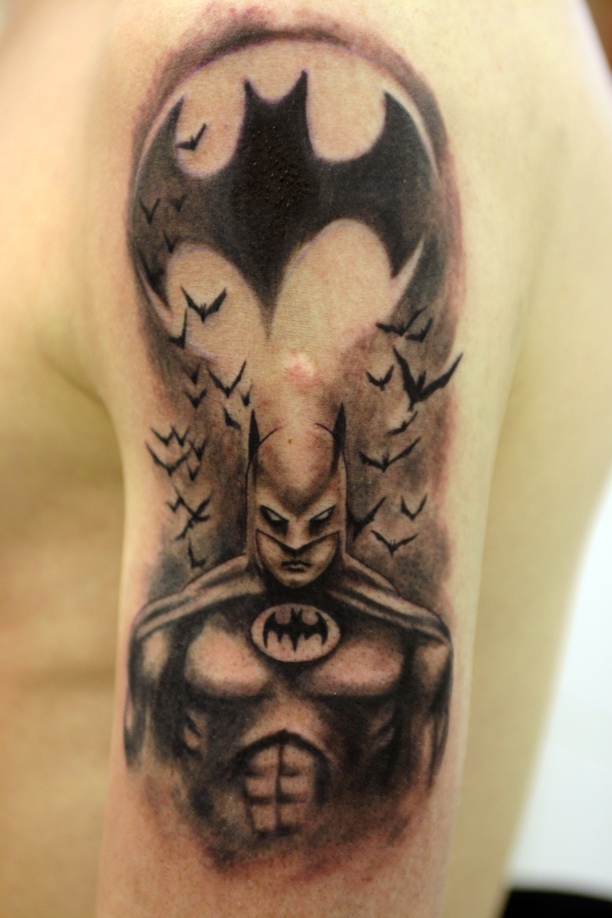 batman tattoos designs ideas and meaning tattoos for you. Black Bedroom Furniture Sets. Home Design Ideas
