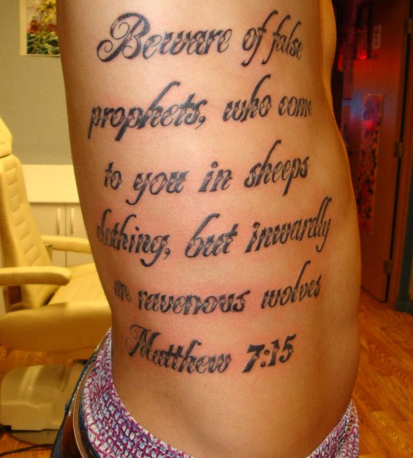 Biblical Quote Tattoos Designs Bible Quote Tattoo On Thigh: Bible Verse Tattoos Designs, Ideas And Meaning