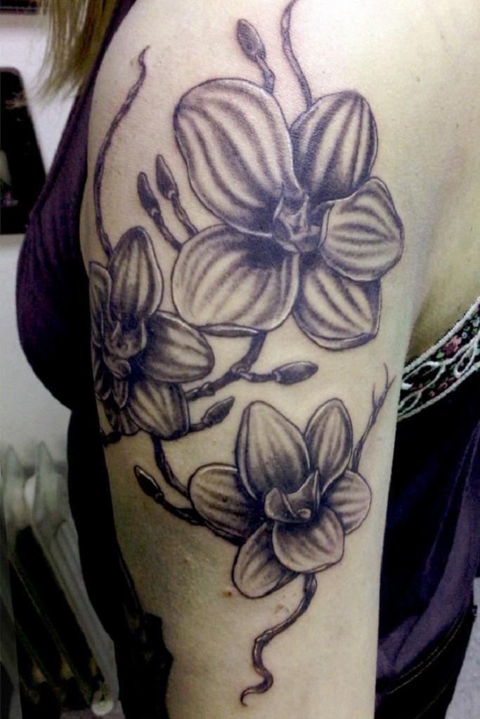 Blach Orchid Tattoo