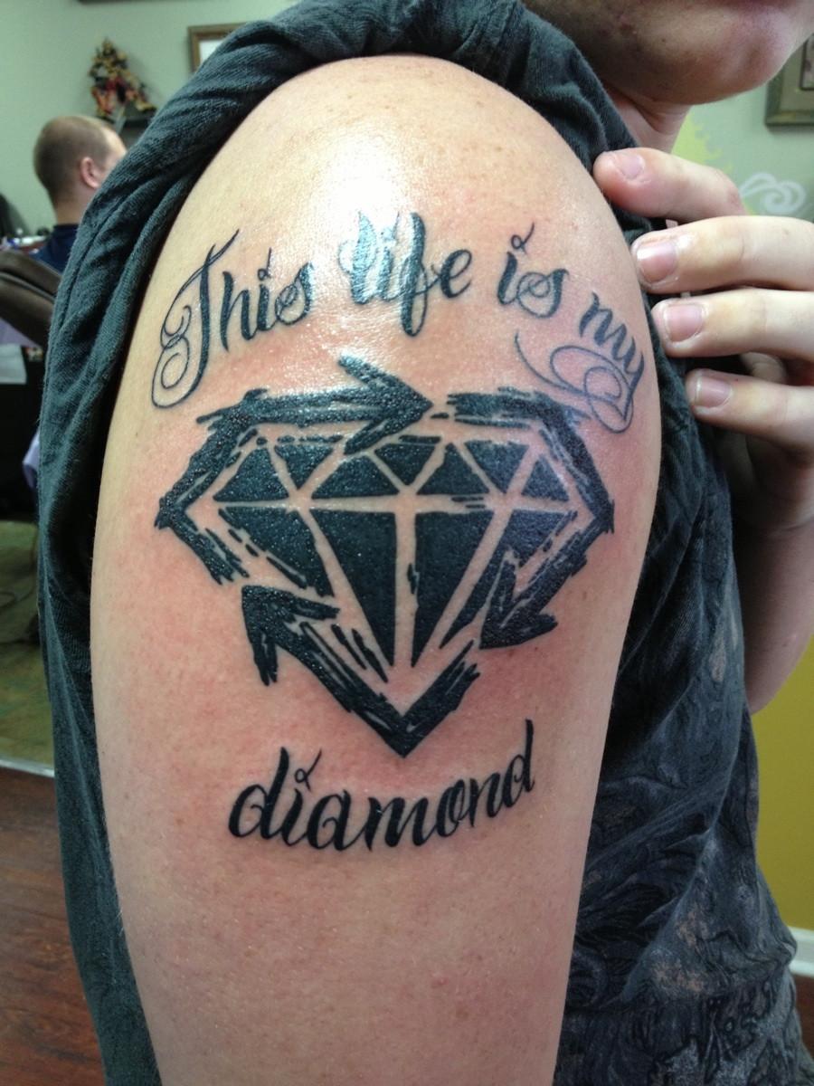 Blue Diamond Tattoo Meaning Black diamond tattoos