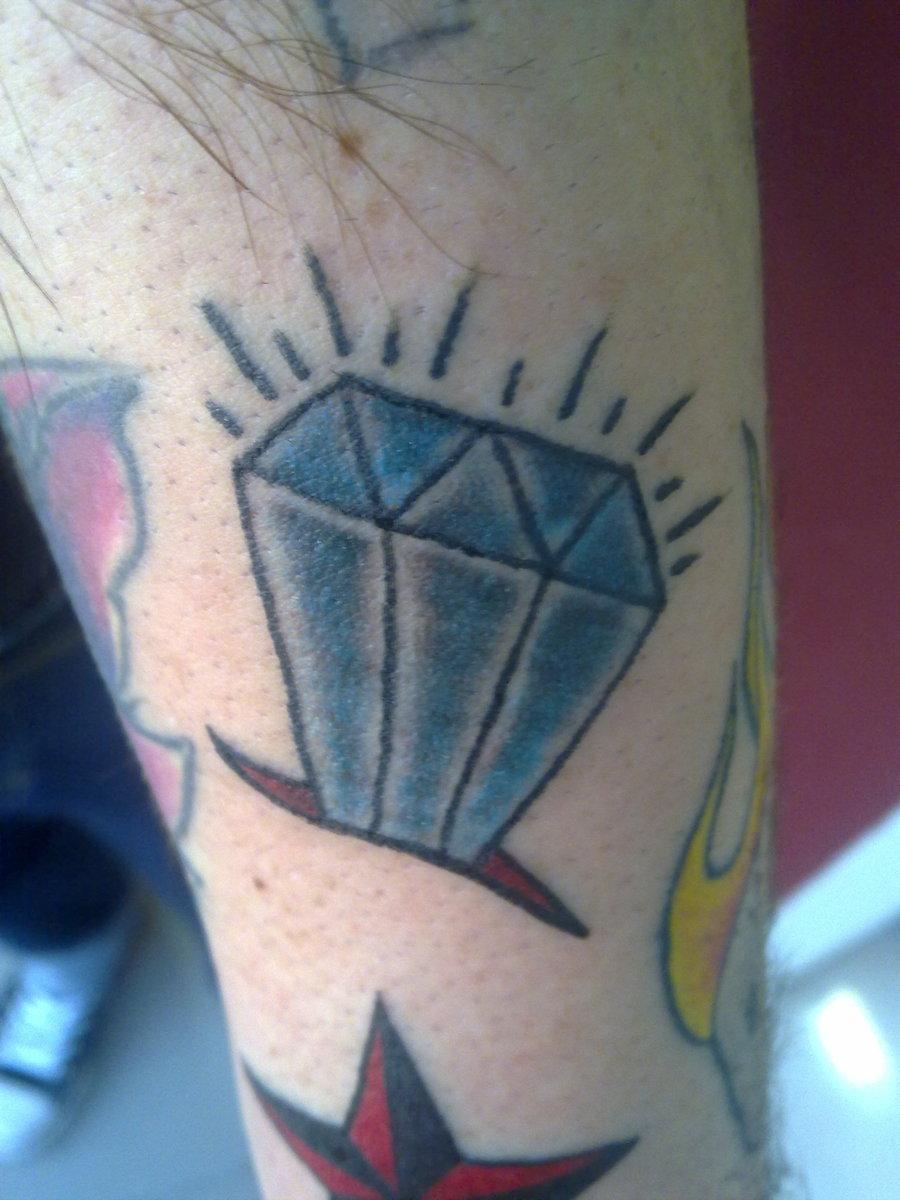 Blue Diamond Tattoo Meaning Blue diamond tattoo