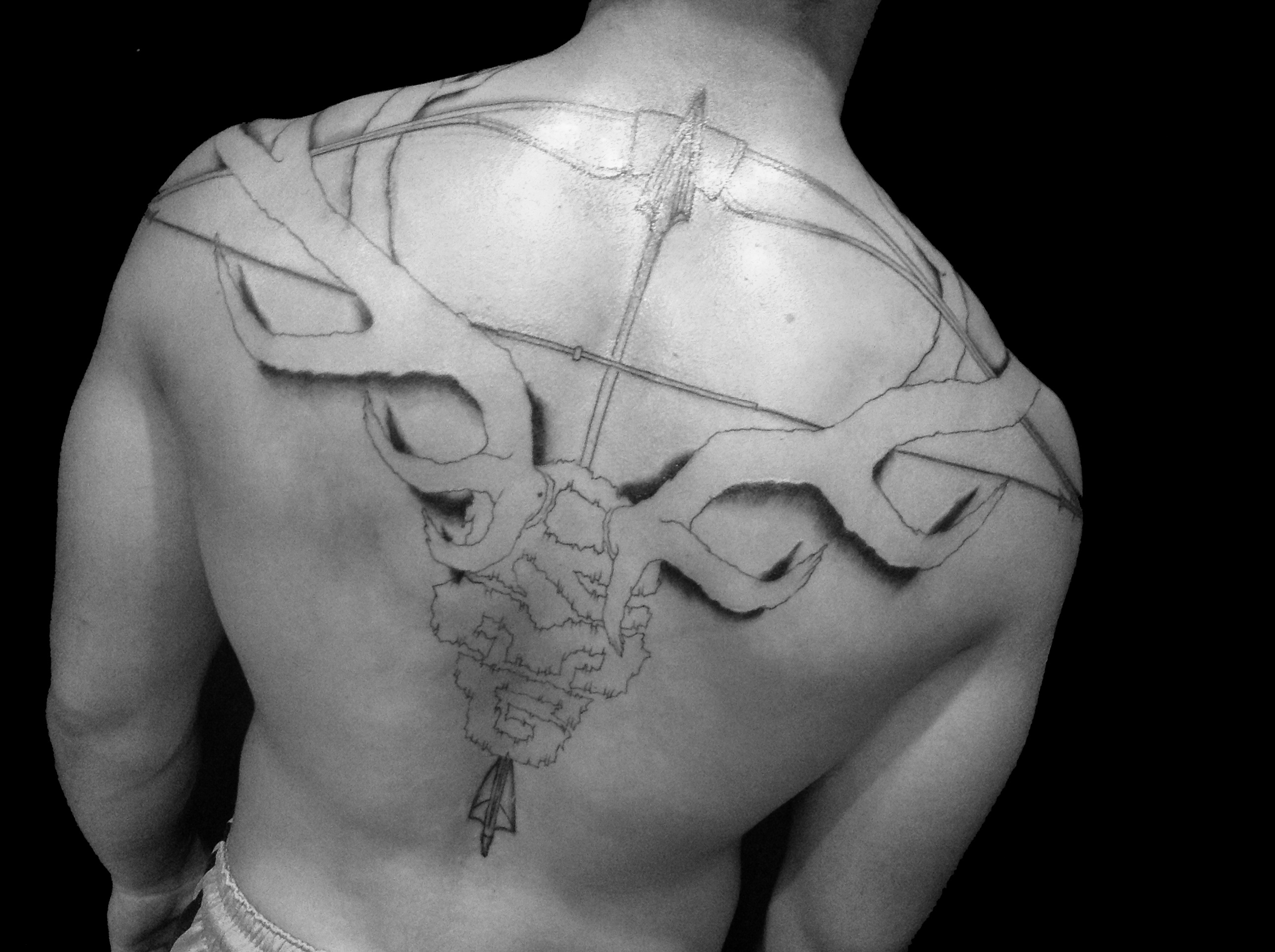Bow and arrow tattoos