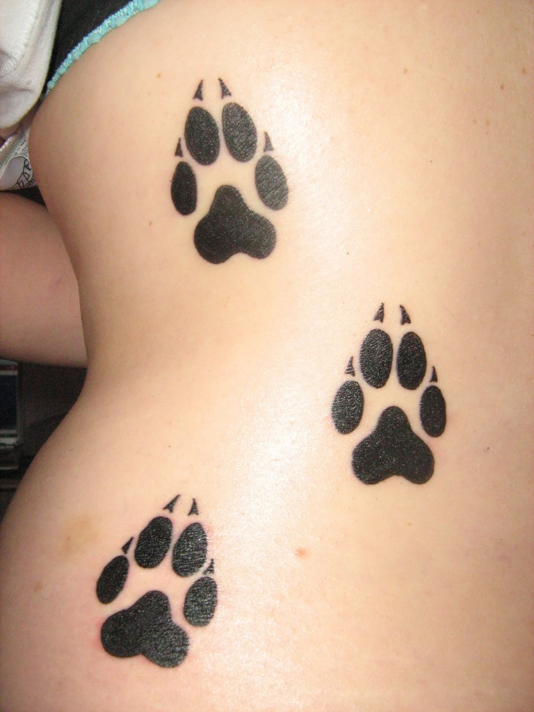 Cat Paw Print Tattoo