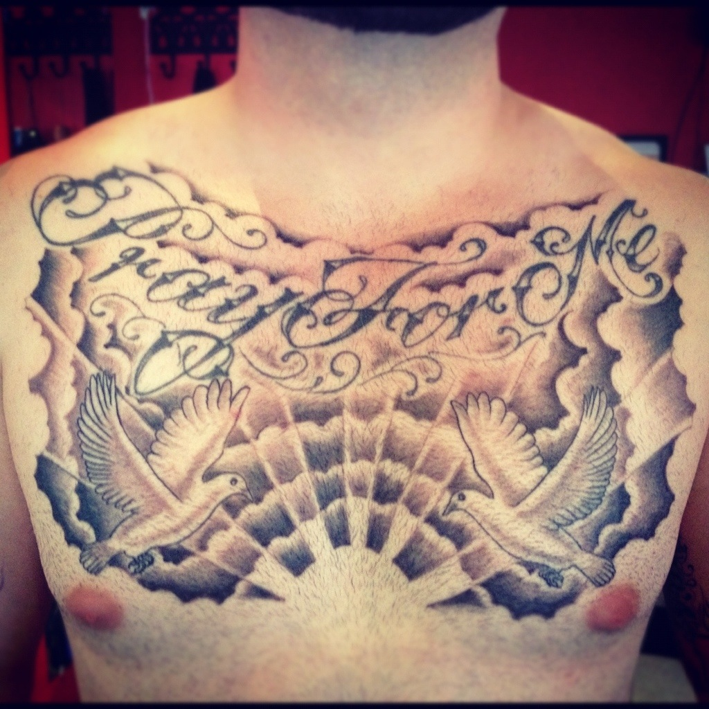 Cloud Tattoos On Chest