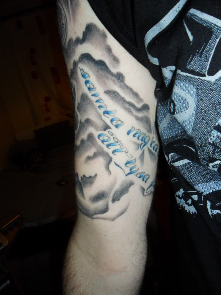 Clouds Tattoo Sleeve