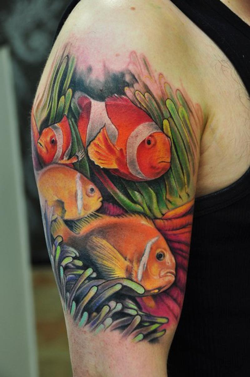 Angel fish tattoo design - photo#20