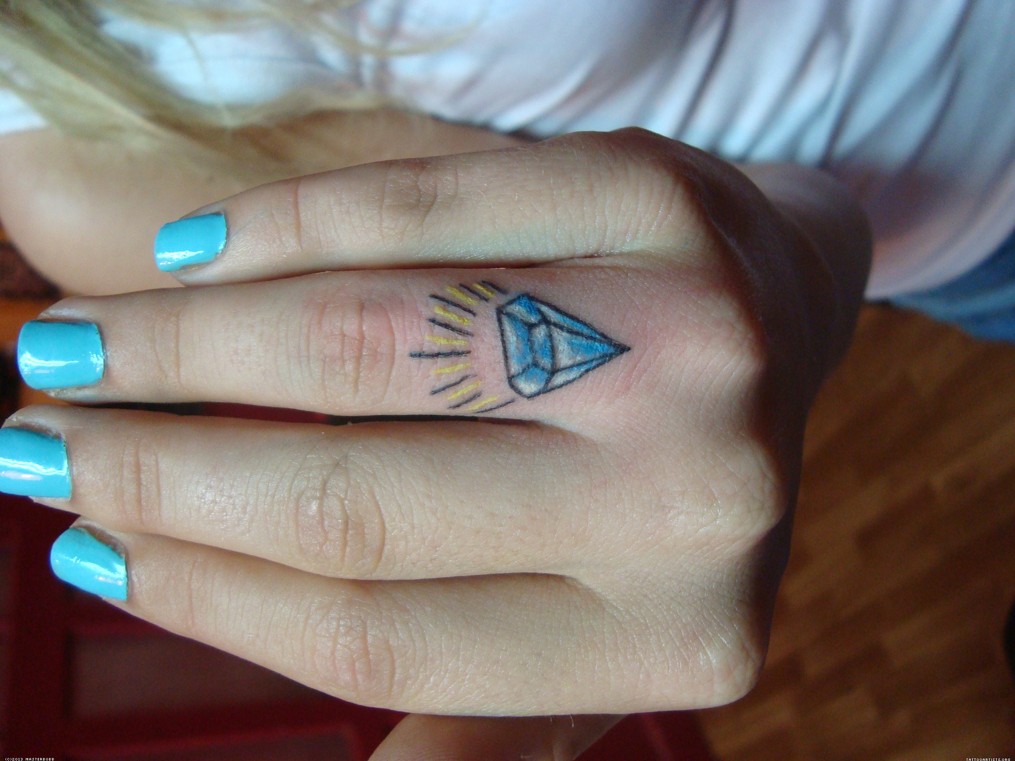 Diamond tattoos designs ideas and meaning tattoos for you for Diamond tattoo on finger