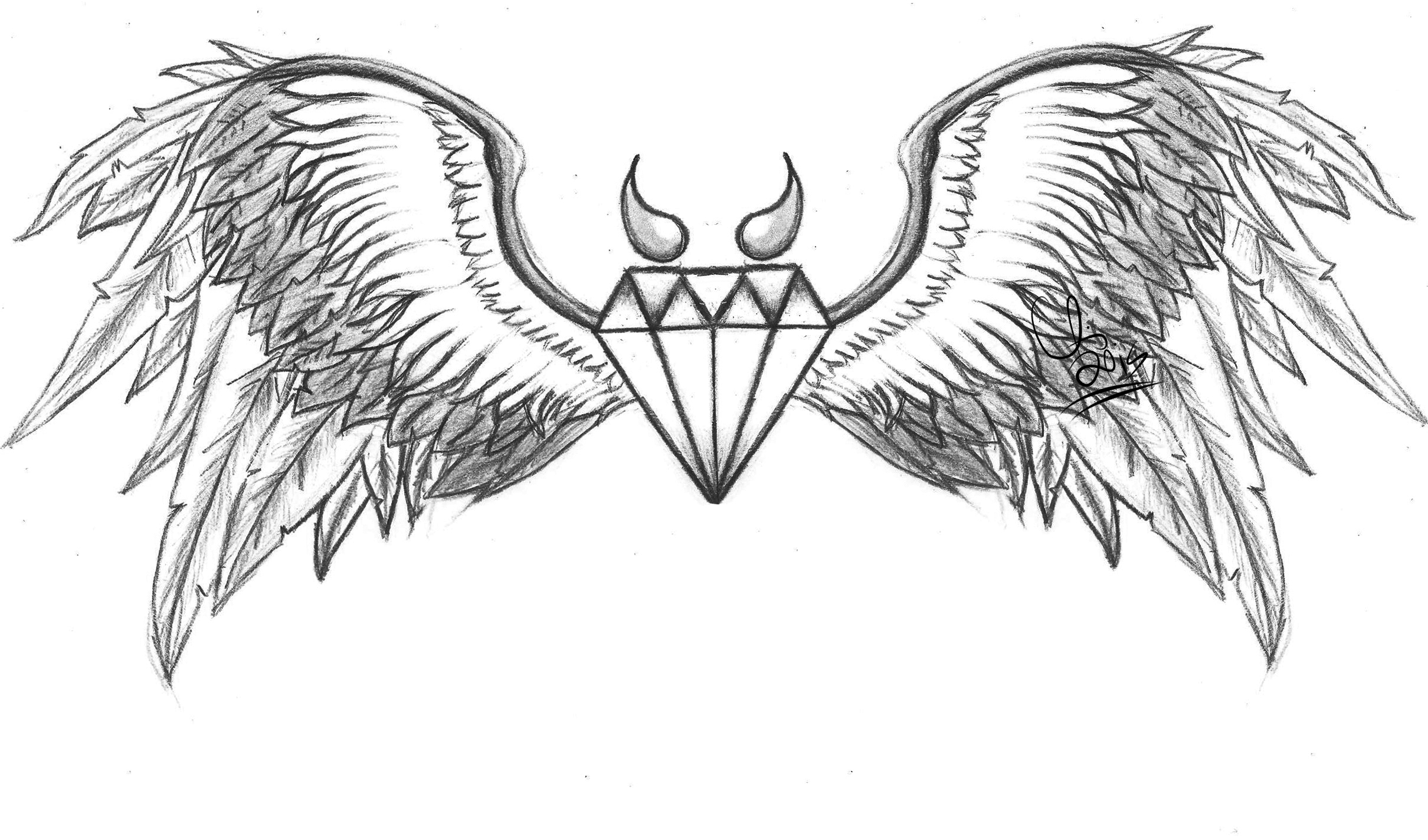 Cross with angel wings coloring pages