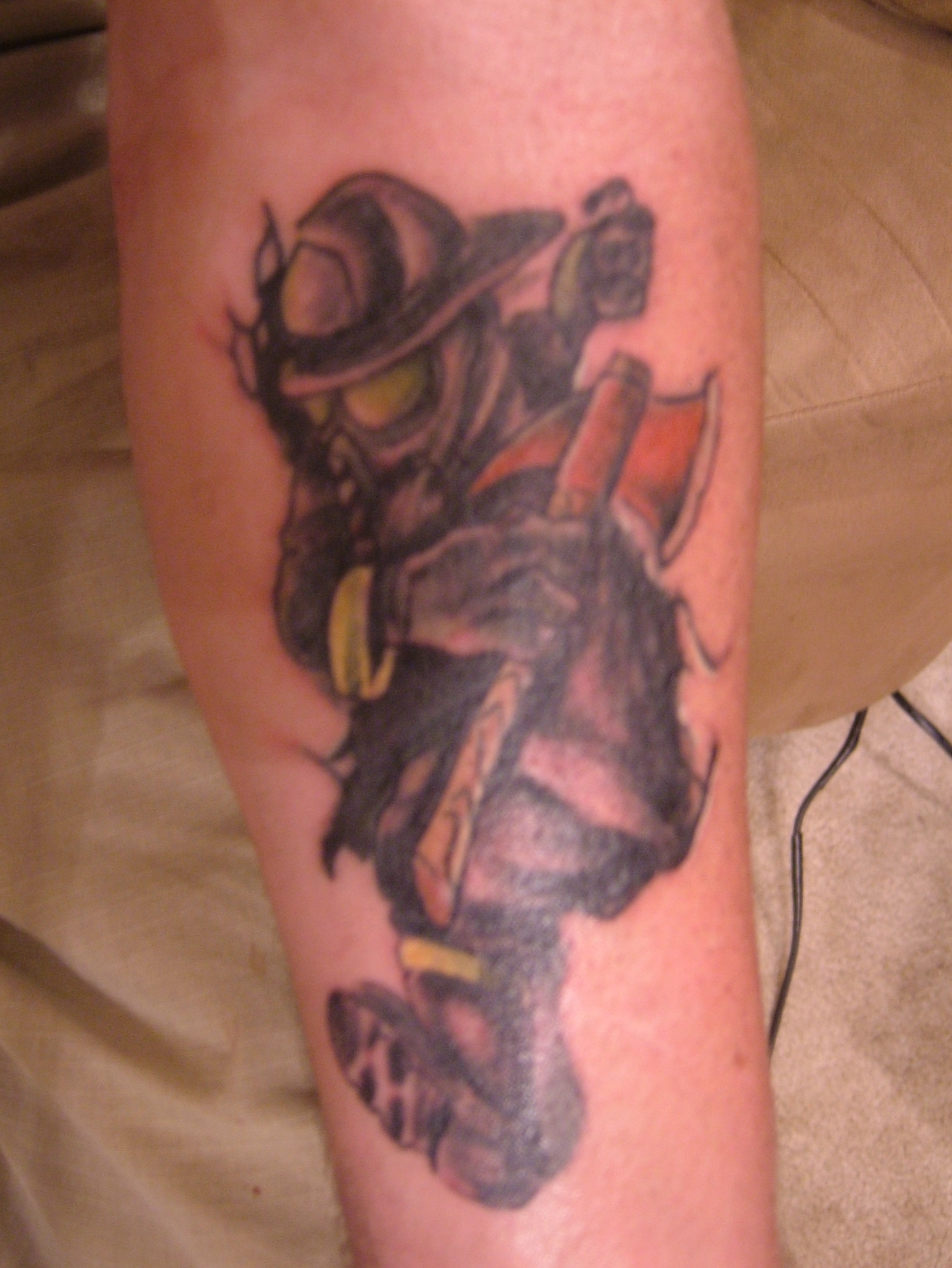 Canadian Firefighter Tattoos Designs