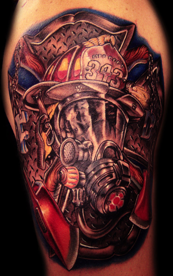 Female Firefighter Tattoo Designs