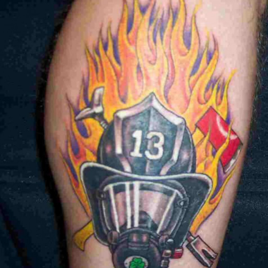 firefighter tattoos designs ideas and meaning tattoos for you. Black Bedroom Furniture Sets. Home Design Ideas