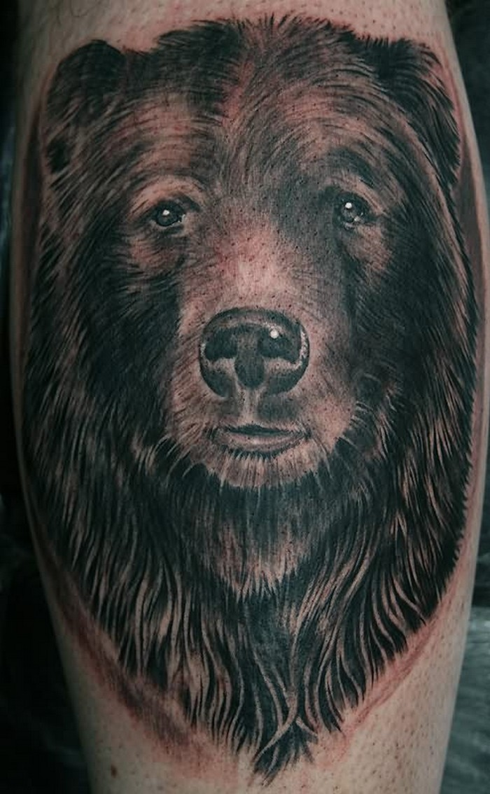 Traditional grizzly bear tattoo - photo#22