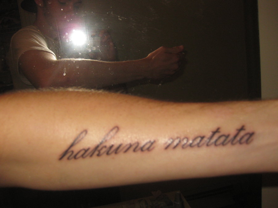 c2d20b6189a Hakuna Matata Tattoos Designs, Ideas and Meaning | Tattoos For You