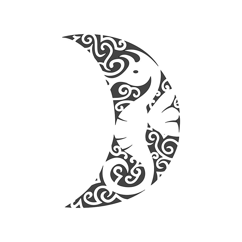 Moon tattoos designs ideas and meaning tattoos for you for Cavalluccio marino maori