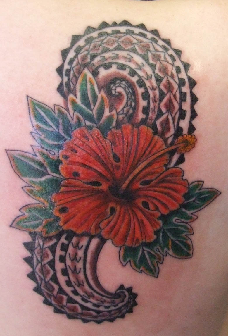 Exotic Flower Tattoos: Hawaiian Tattoos Designs, Ideas And Meaning