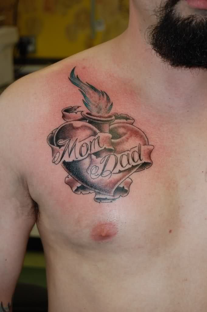 Small Tattoo On Chest: Heart Tattoos Designs, Ideas And Meaning