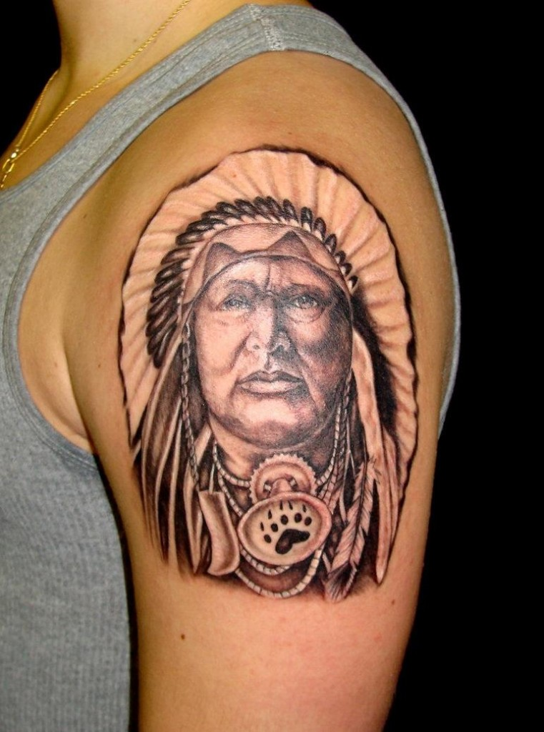 Traditional Cherokee Indian Warrior Tattoos | Joy Studio Design ...