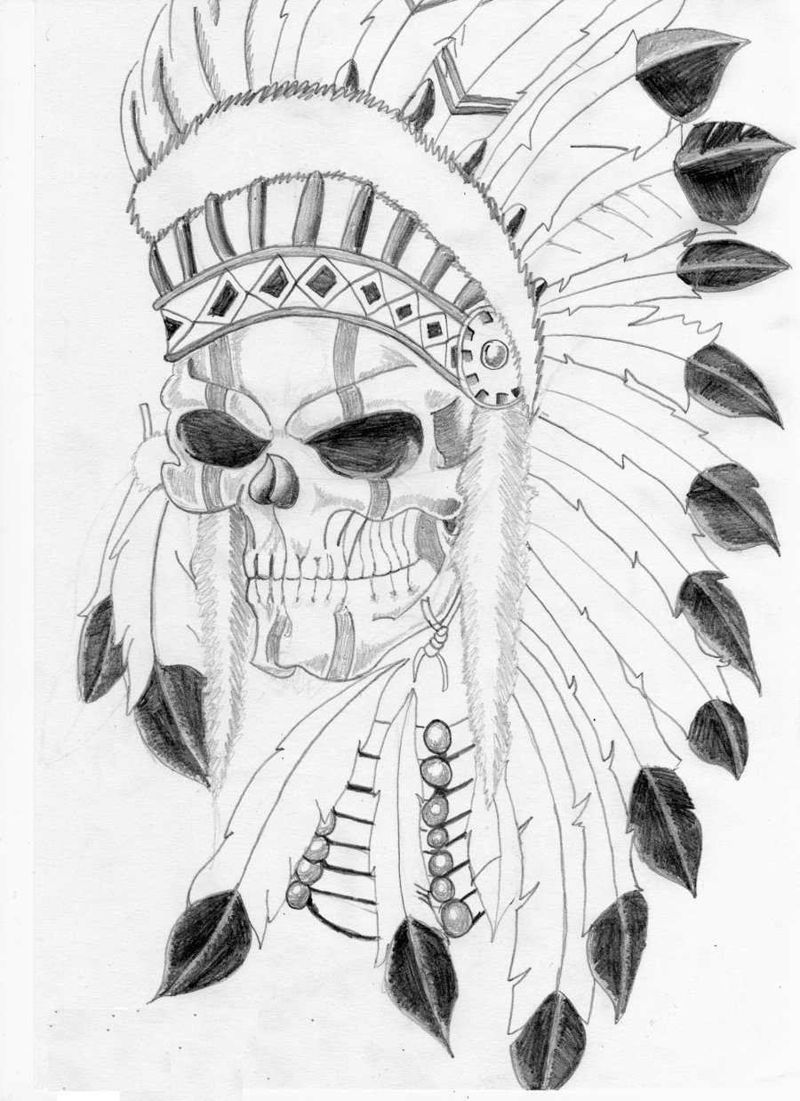 Indian In Headdress Tattoo Outline Wiring Diagrams