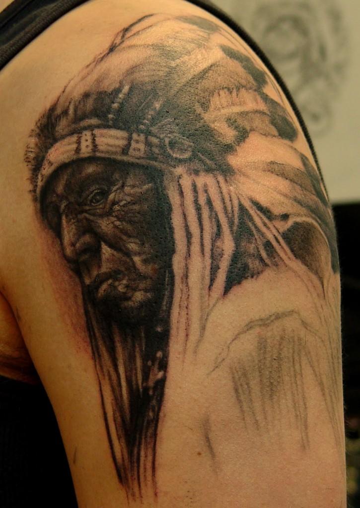 traditional cherokee warrior tattoos joy studio design gallery best design. Black Bedroom Furniture Sets. Home Design Ideas