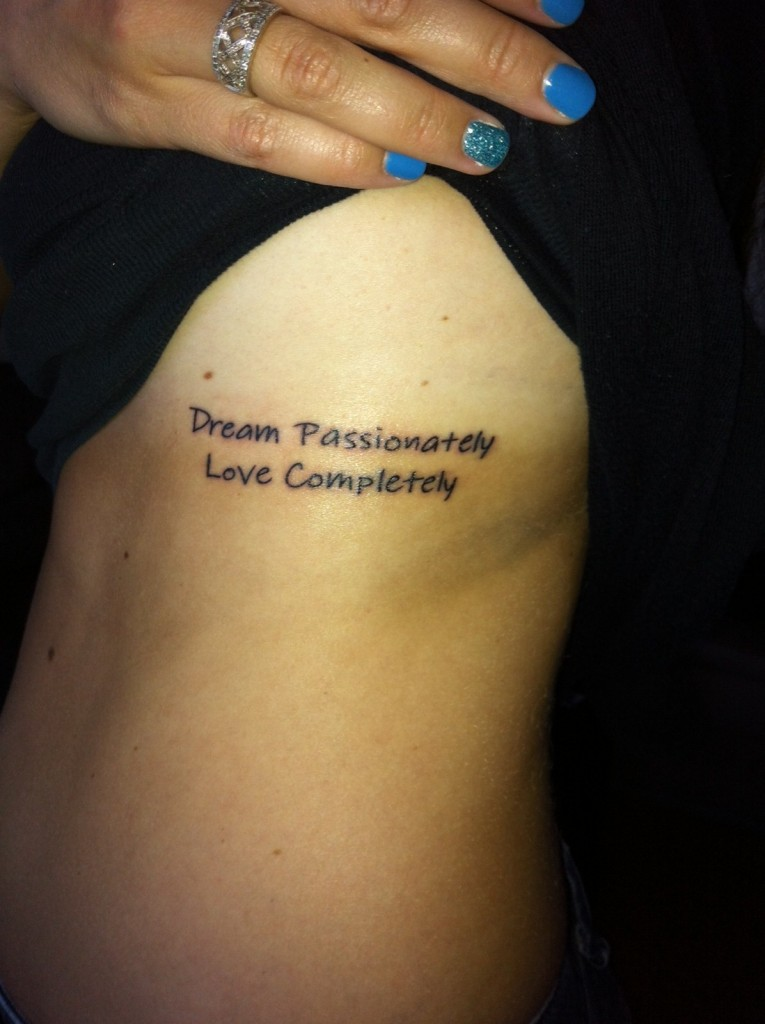 Inspirational tattoos designs ideas and meaning tattoos for Quote wrist tattoos