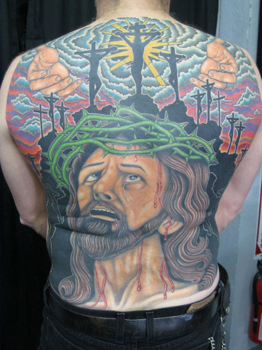 Jesus tattoos designs ideas and meaning tattoos for you for Jesus back tattoos