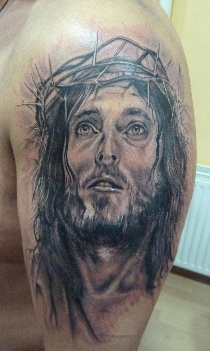 Jesus Christ Face Tattoo Designs