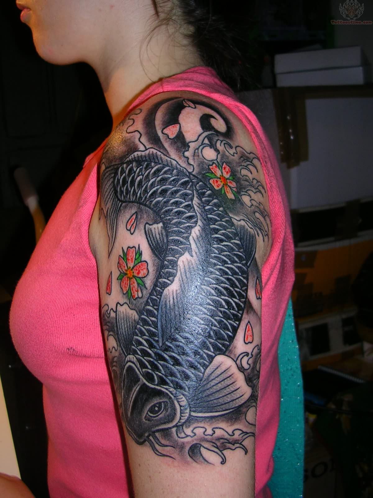 Koi tattoos designs ideas and meaning tattoos for you for Japanese sleeve tattoos meanings