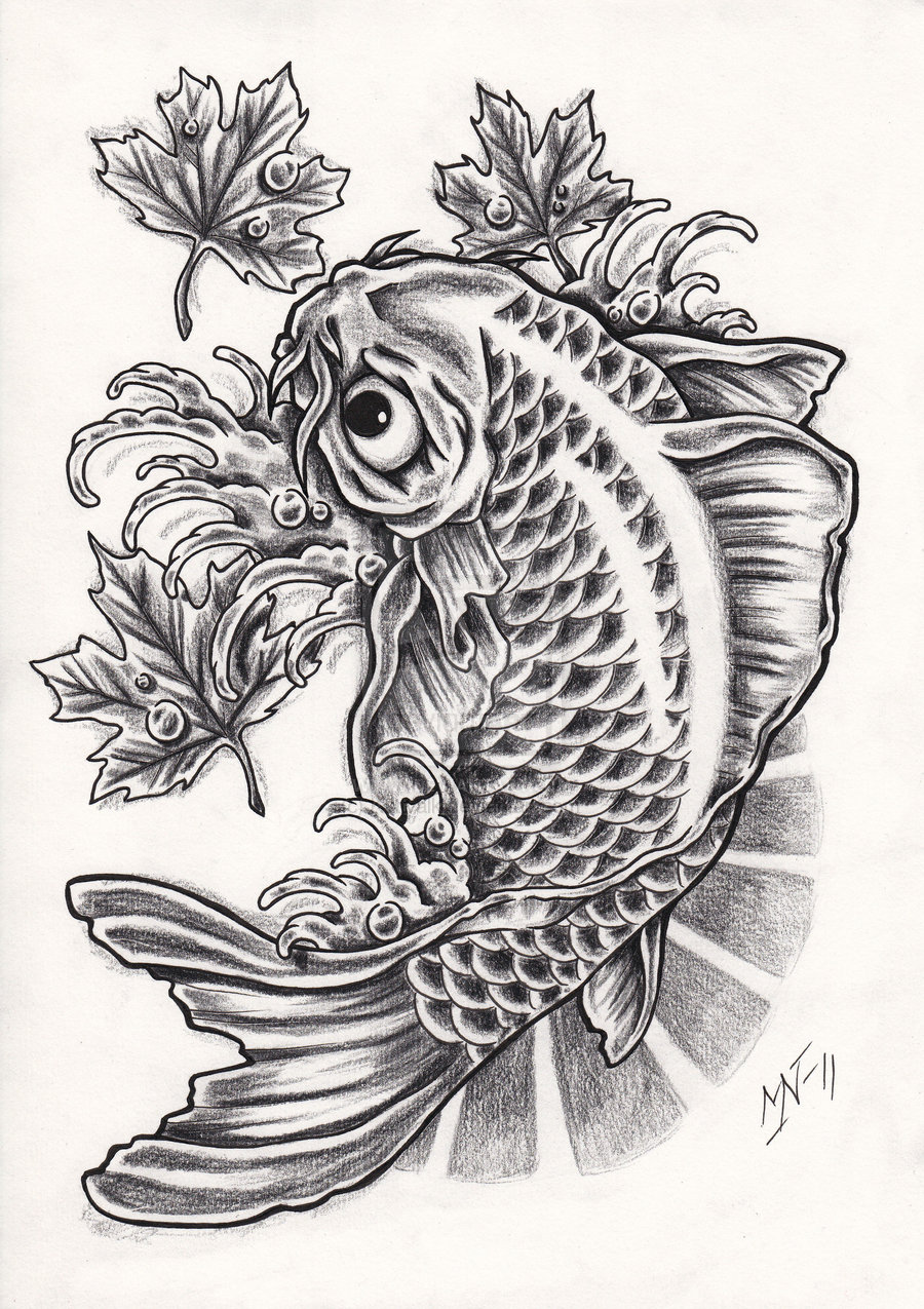 Koi tattoos designs ideas and meaning tattoos for you for Black and white koi fish