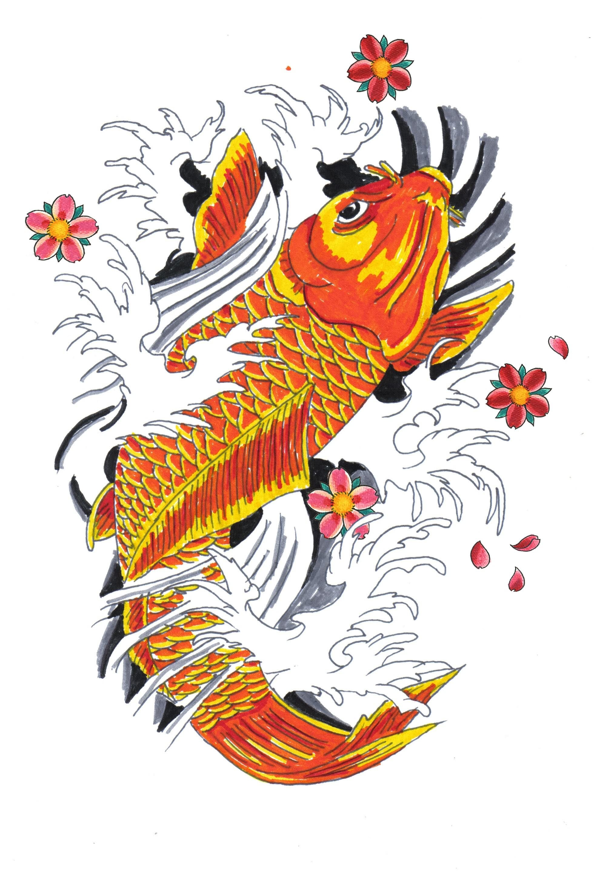 Koi tattoos designs ideas and meaning tattoos for you for Japanese koi names