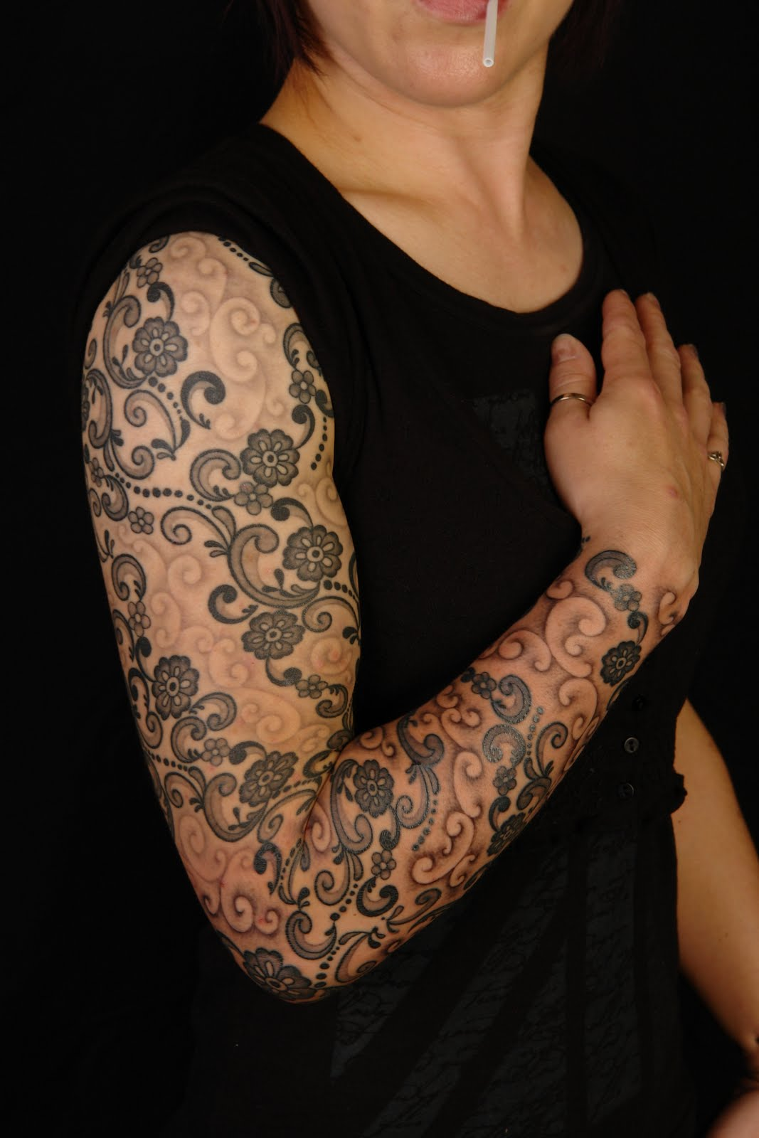 Lace Tattoos Designs, Ideas and Meaning | Tattoos For You Lace Sleeve Tattoos For Women