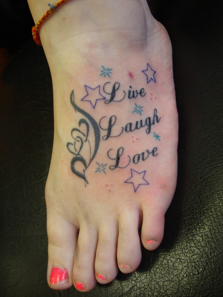 Infinity Tattoos With Butterflies Live Laugh Love Tattoo...