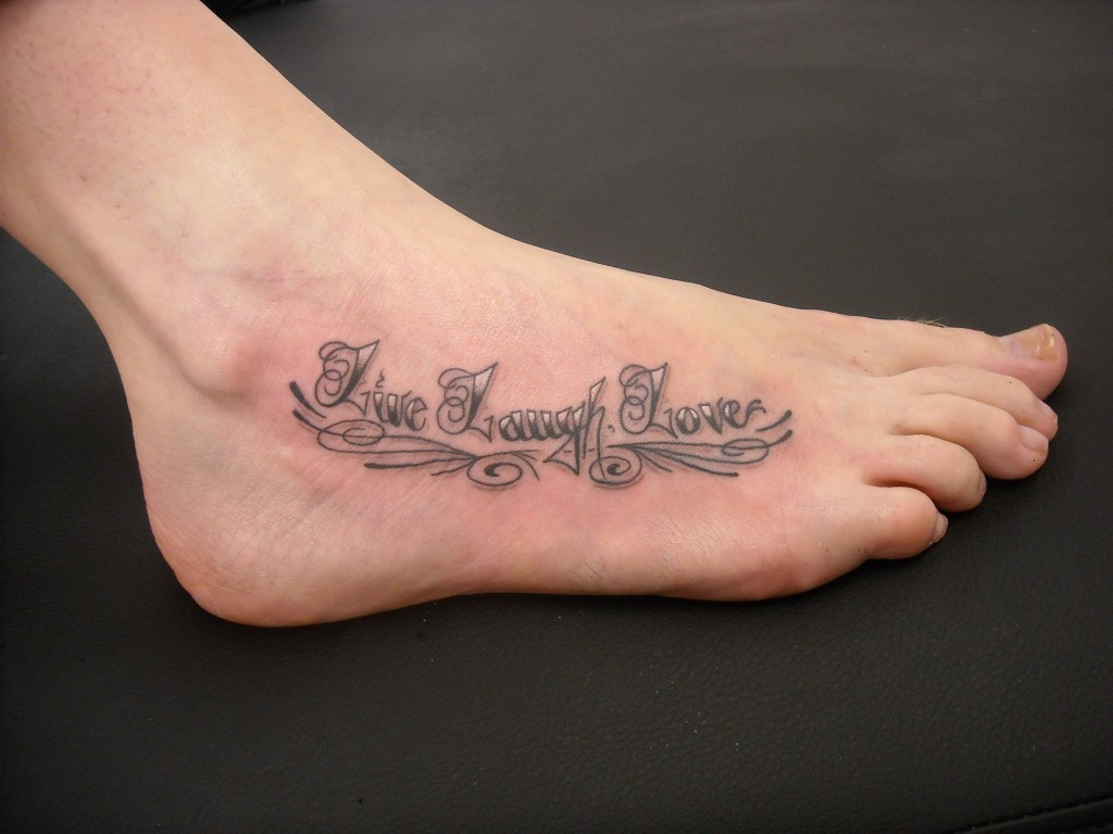 Live laugh love tattoos designs ideas and meaning for Love in design