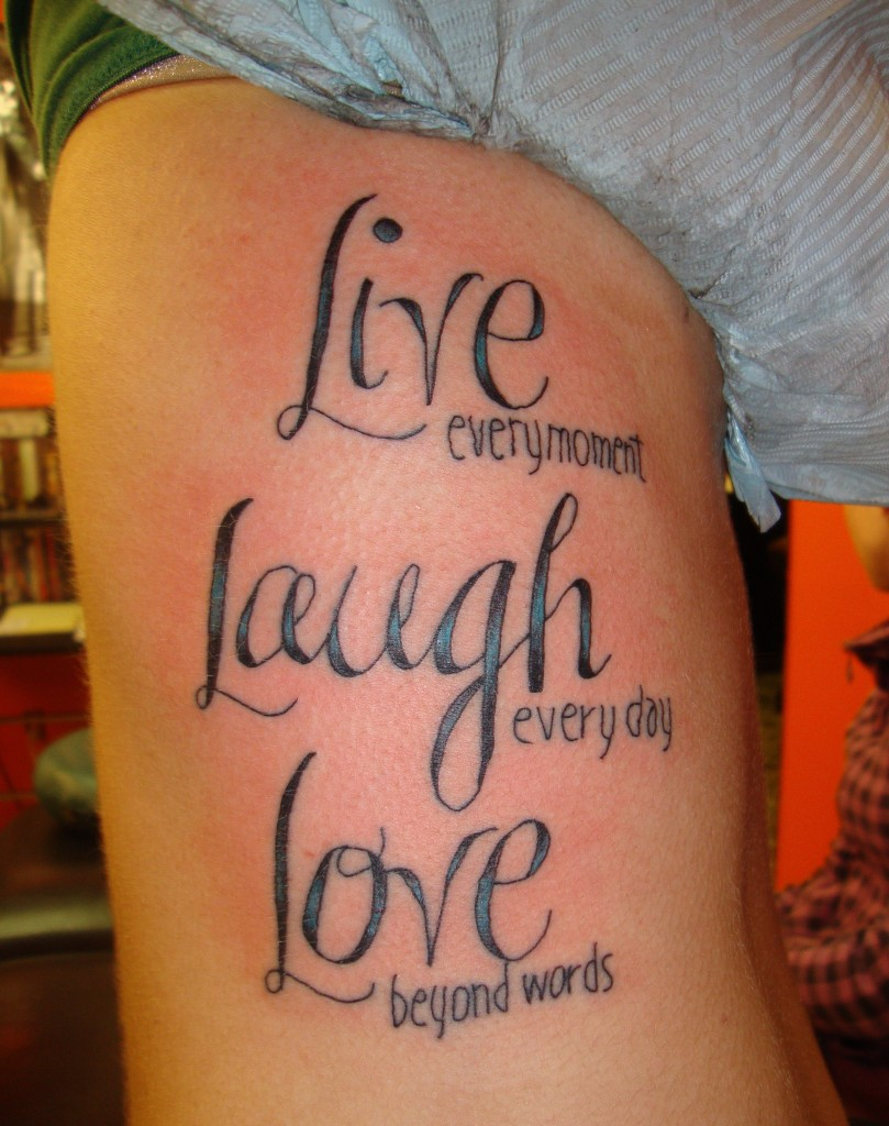 Live laugh love tattoos designs ideas and meaning for Love picture ideas