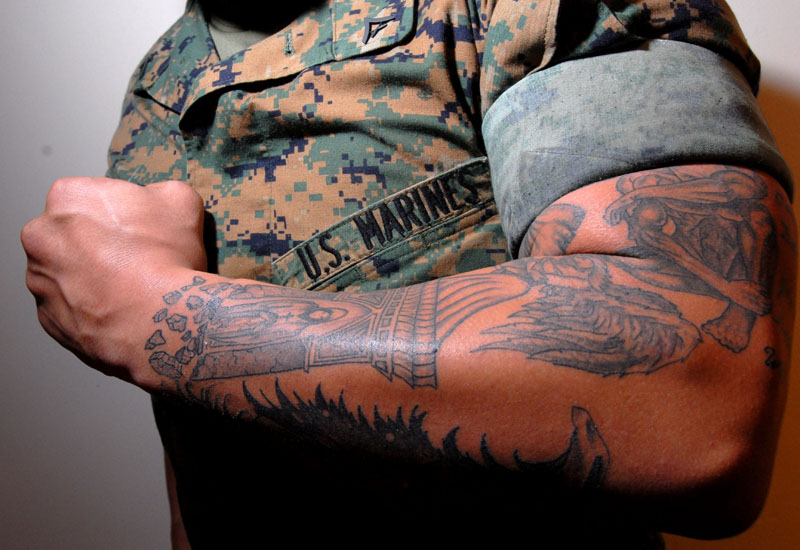 Military army tattoos designs ideas and meaning for Army tattoo policy wrist
