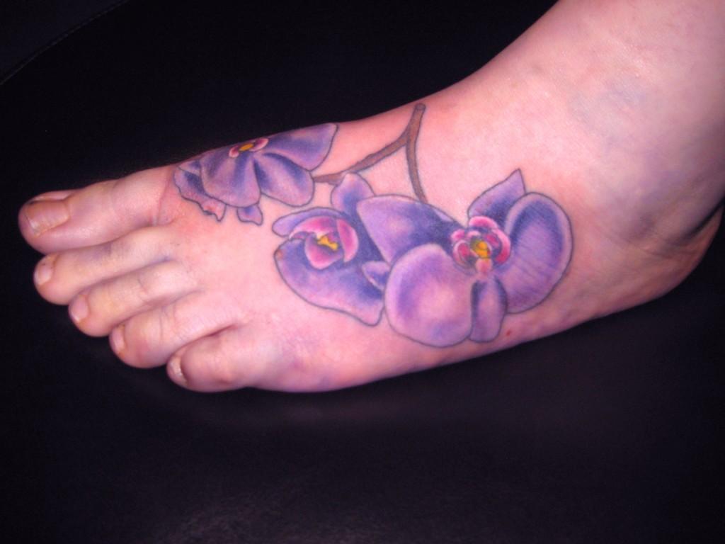 Orchid Foot Tattoos