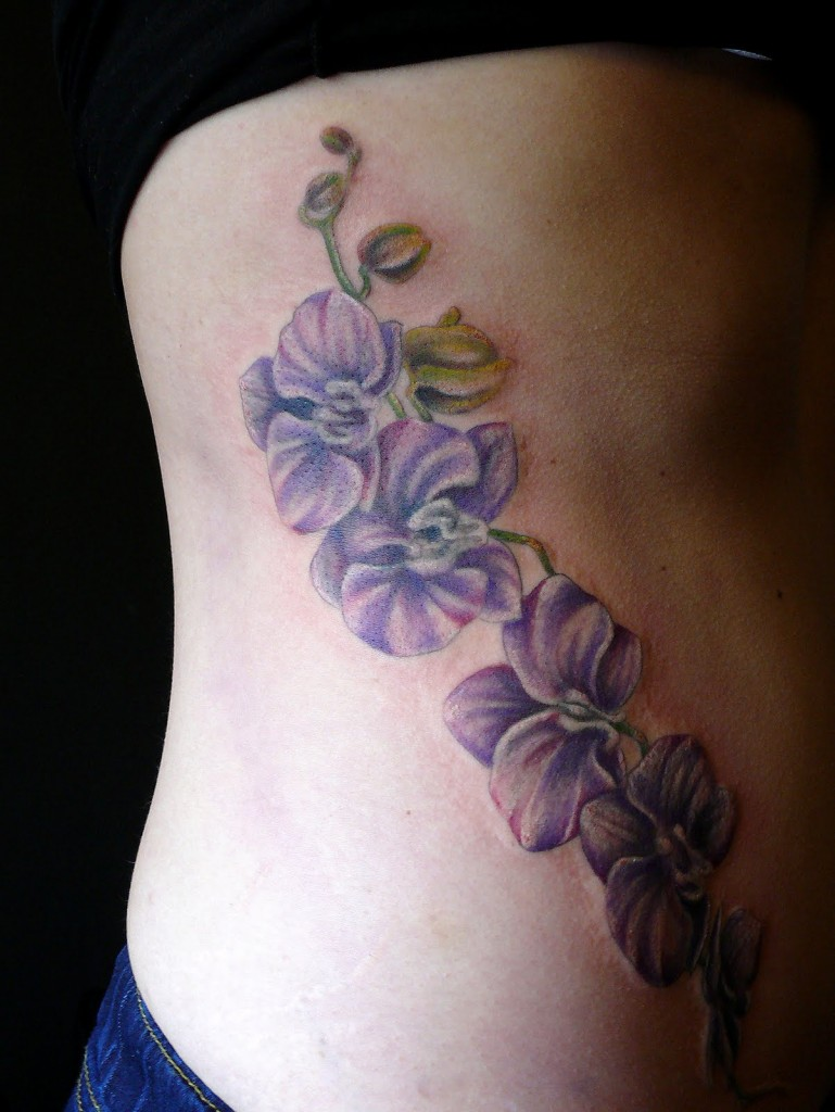 Orchid Tattoo Designs For Women