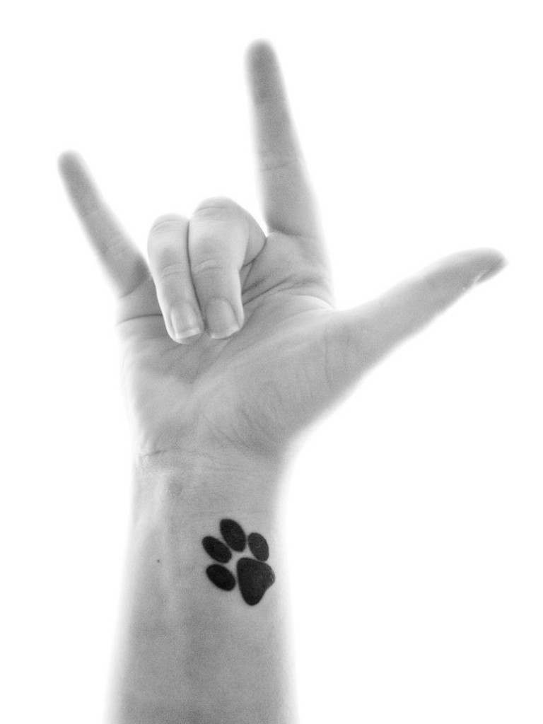 Paw Print Tattoo On Wrist