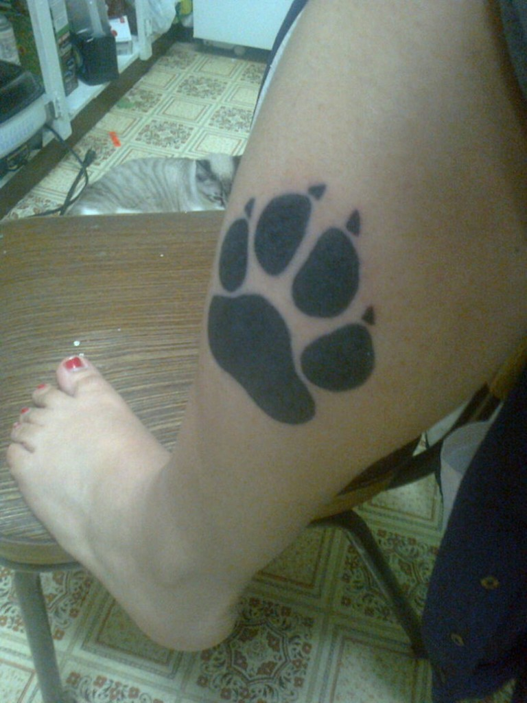 Paw Print Tattoos For Women