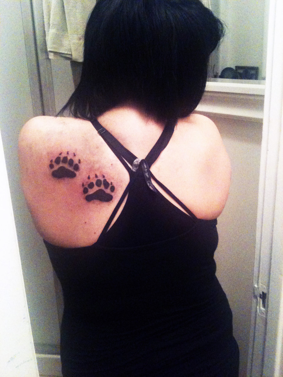 Paw print tattoos designs ideas and meaning tattoos for you for Pictures of bear paw tattoos