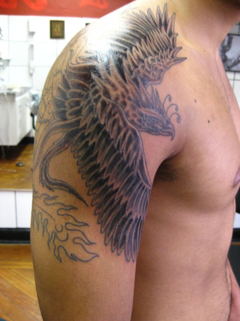 Phoenix tattoos designs ideas and meaning tattoos for you for Tattoo design in shoulder