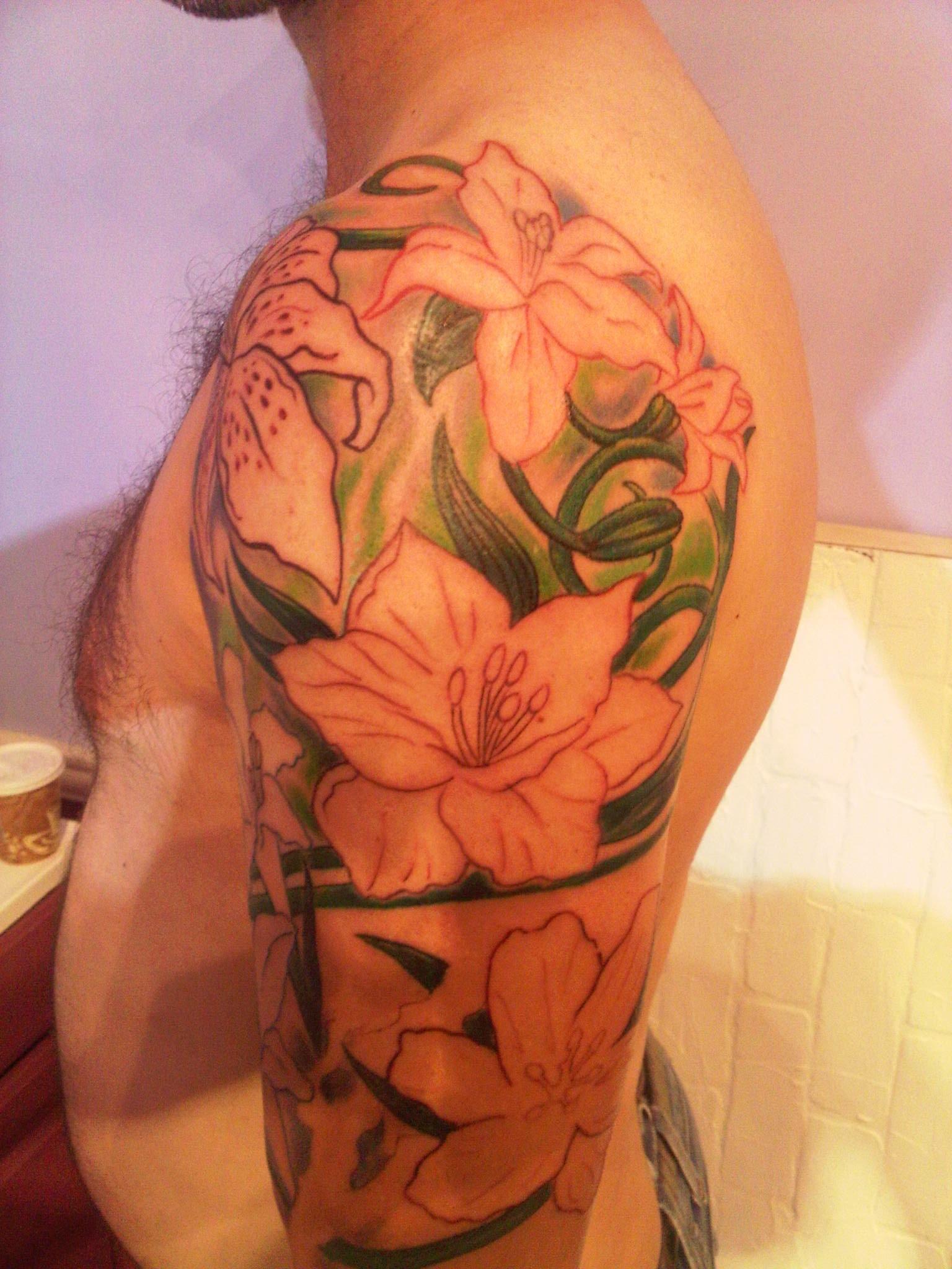Cattleya Flower Tattoo Designs