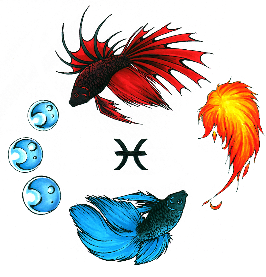 Zodiac Pisces Tattoo Designs