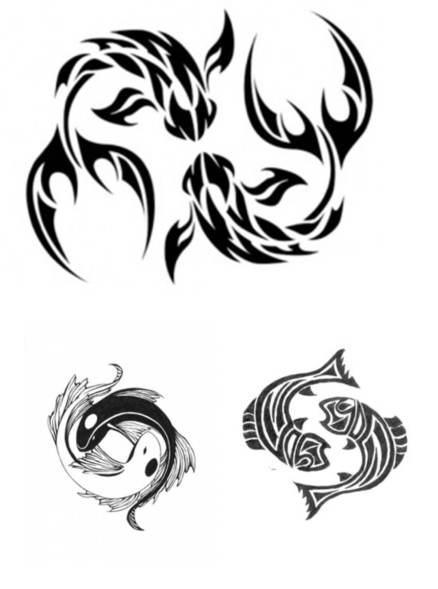 Tribal-Tattoos Pisces-Tribal-Tattoos