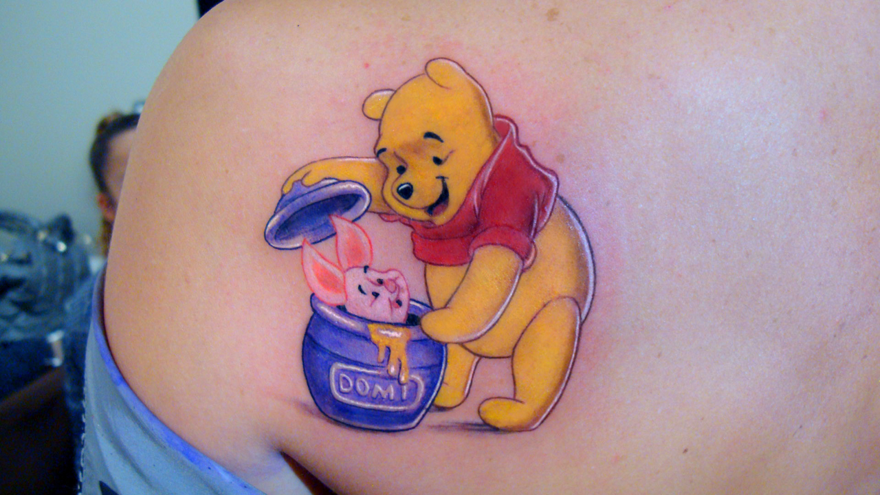 Bear tattoos designs ideas and meaning tattoos for you for Winnie the pooh tattoo