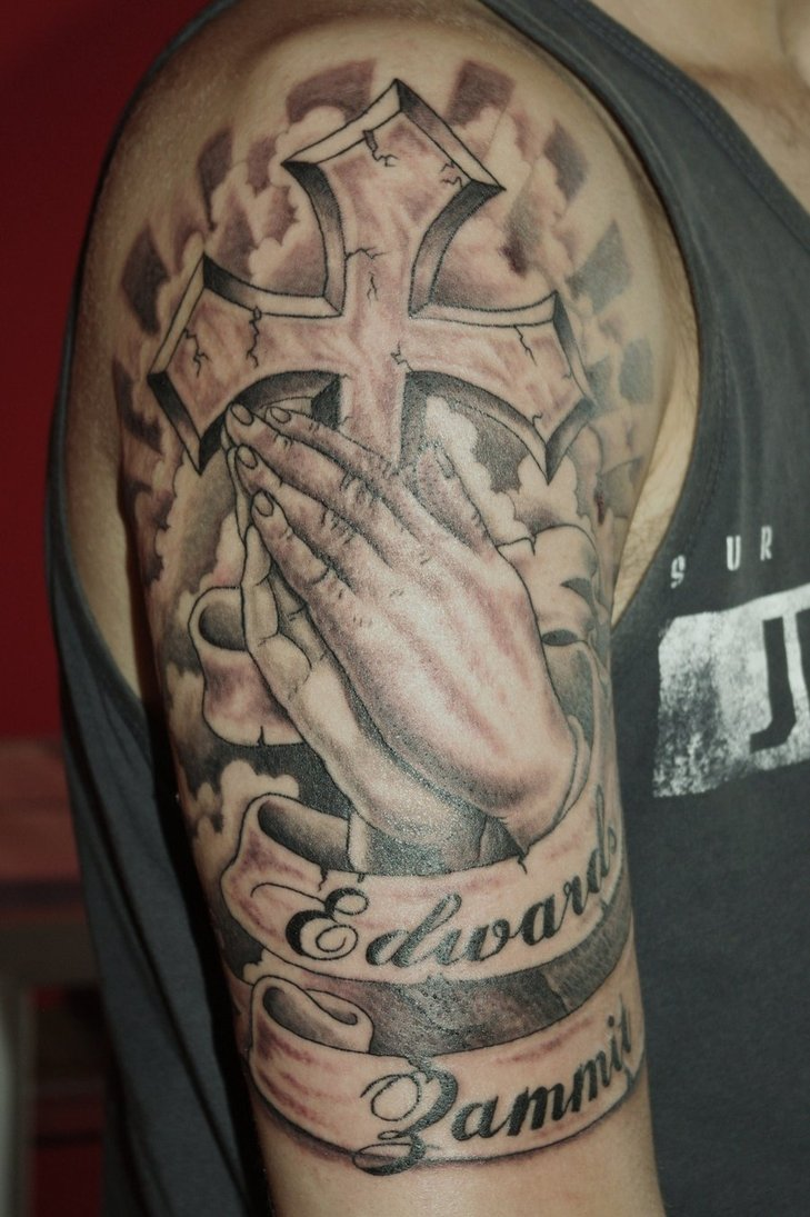 Praying Hand Tattoo For Men
