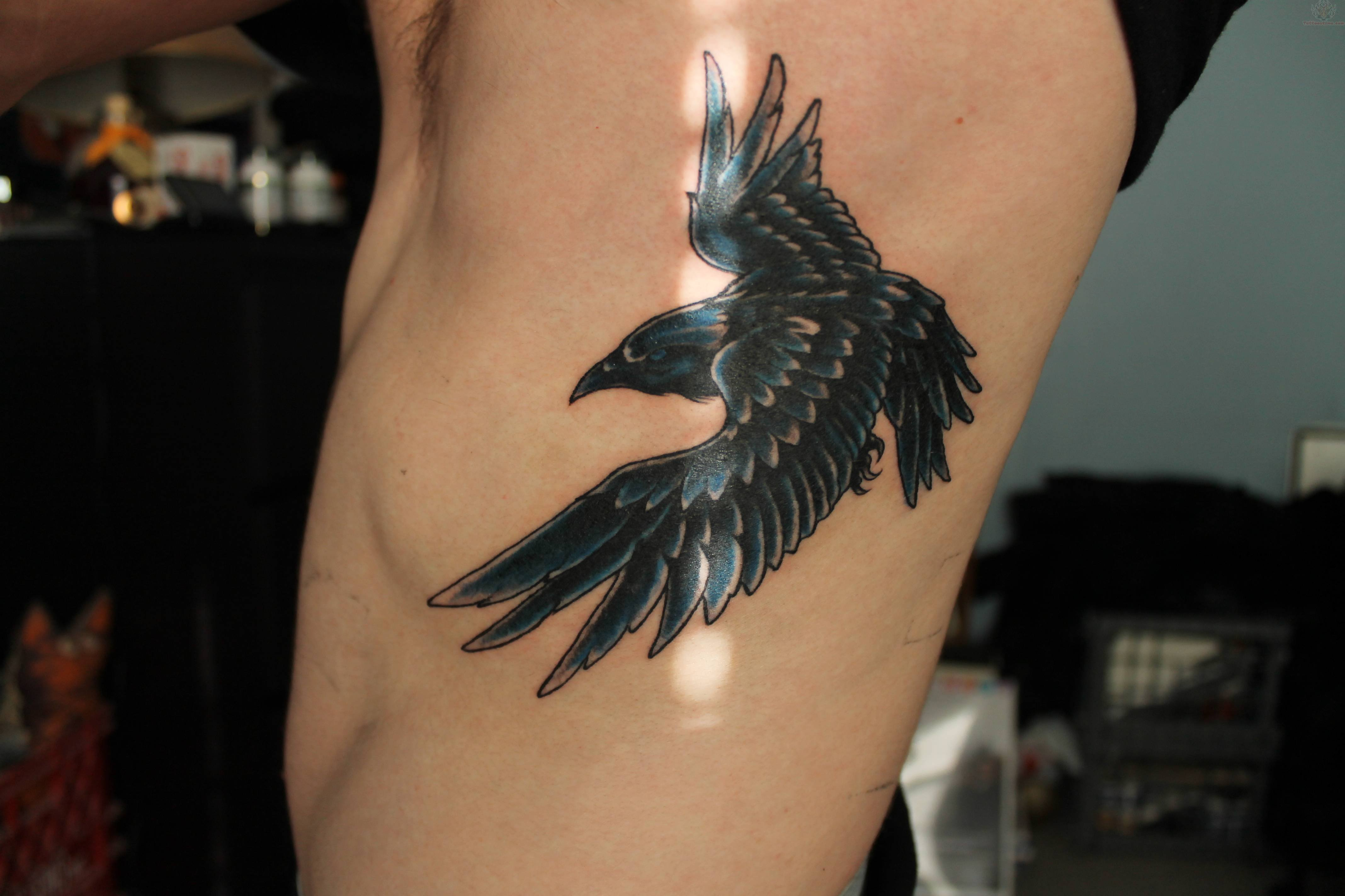 Displaying Images For Traditional Raven Tattoo